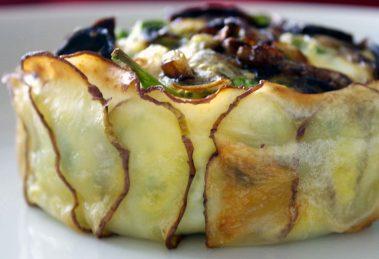 Slaný dortík s obalem z bramborových lupínků